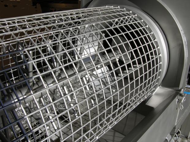 Fonctionnement du hérisson et de la grille cylindrique avec peignes