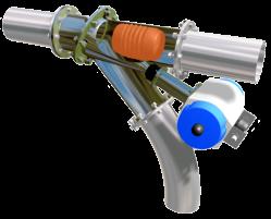 Vanne conique bi-directionnelle EGRETIER avec obus de nettoyage