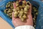 Égrenage d'aubergines IQF par l'égreneur trieur EGRETIER