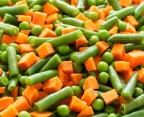Macédoine de légumes désassemblée par l'égreneur-trieur EGRETIER
