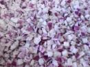 Égrenage d'oignons rouge IQF par l'égreneur trieur EGRETIER