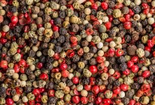 grains de poivres et épices transférés par la vanne bidirectionnelle EGRETIER